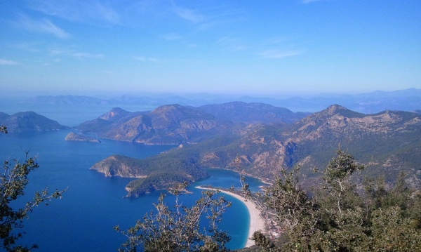 A view of Ölu Deniz from the Lycian Way