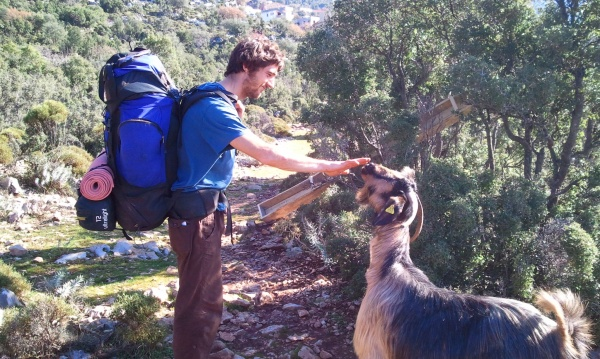 Julien meeting the locals!