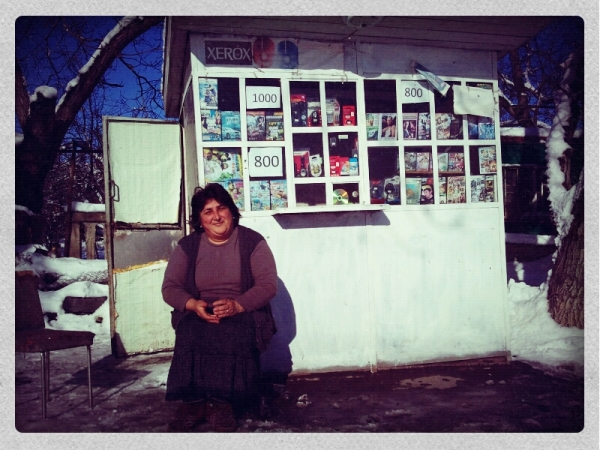 A shopkeeper in Garni