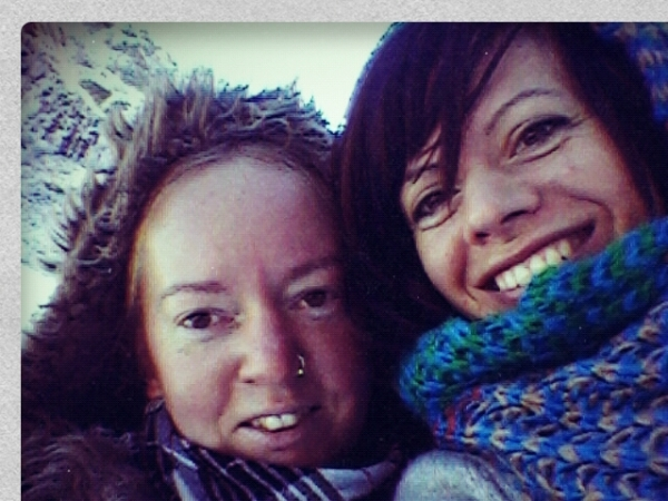 Jo and I, braving the cold