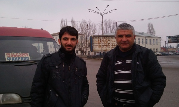 I get a free bus ride in Georgia with these two Azeri people: so kind-hearted
