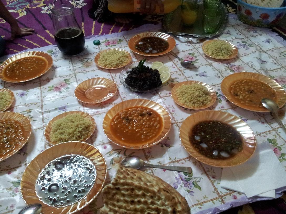 Ramadan evening meal.