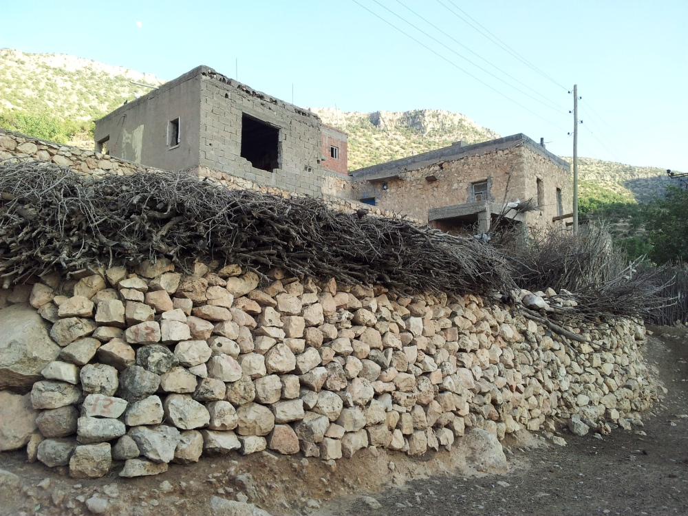 An abandoned village close to Hasankeyf, now a ghost town