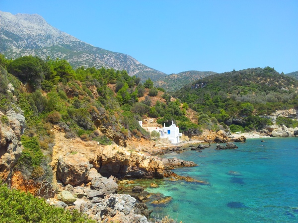 The west coast of Samos