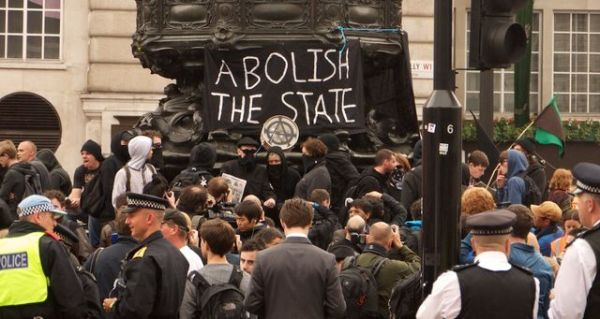 Protesters at Piccadilly Circus last year