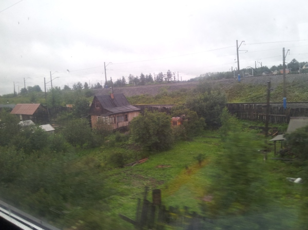 A blurry photo of the typical view from the Trans-Siberian