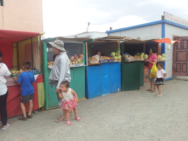 Proof that vegetable markets exist in Mongolia!