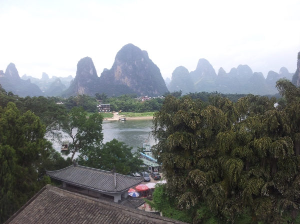 The view from our hostel in Xingping