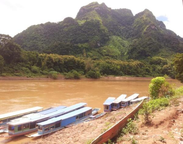 The boat dock at Nong Khiaw