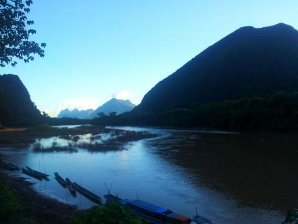 The peaceful, perfect Nam Ou river in northern Laos