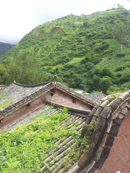 Rooftops in Nuodeng, Yunnan province