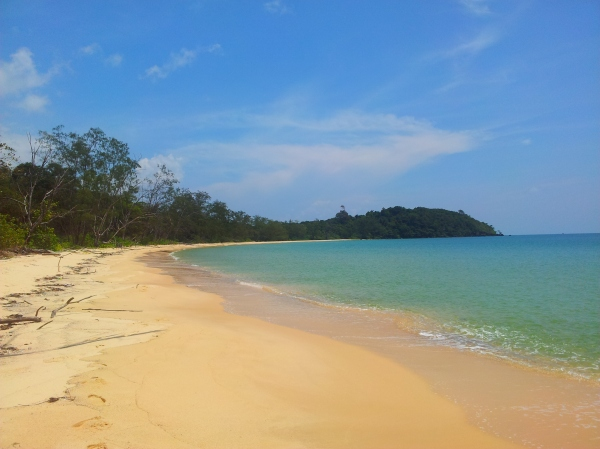 Alone on one of Koh Ta Kiev's beach...soon to be changed forever