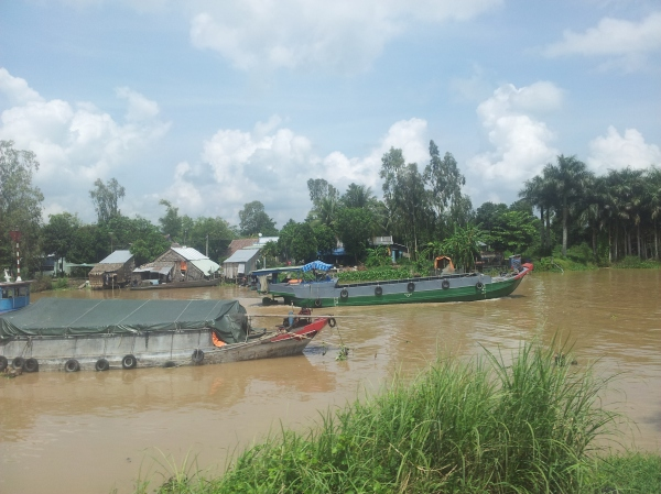 Travelling through the Mekong Delta in southern Vietnam