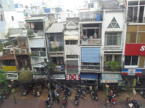 A Saigon street from above