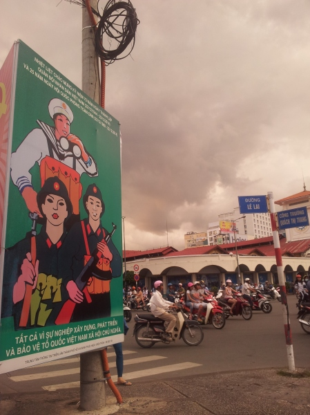 Propaganda and scooters in Saigon