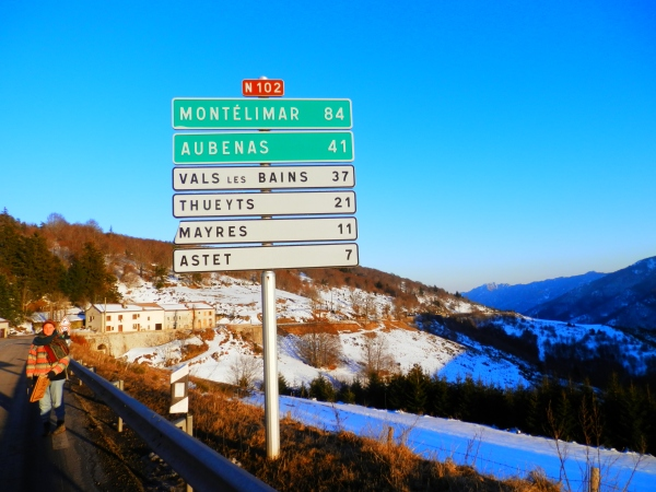 In the snowy mountains of Ardèche