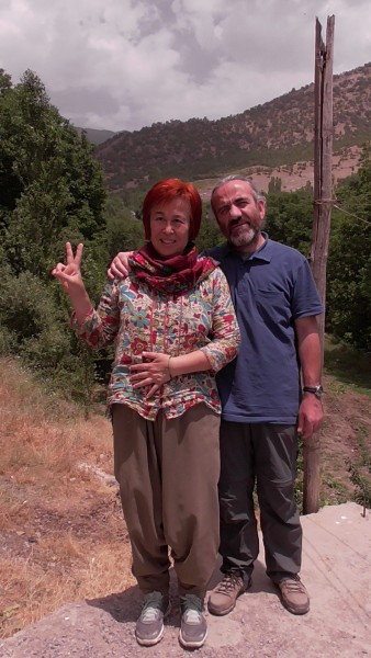 Yannis and Meral in their village close to Roboski